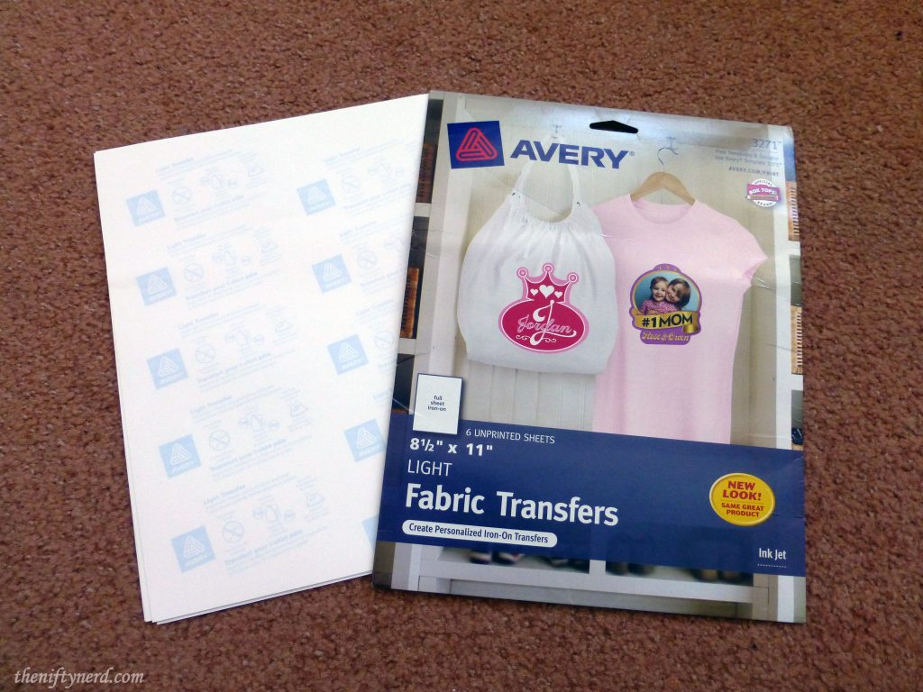 Avery fabric transfer paper
