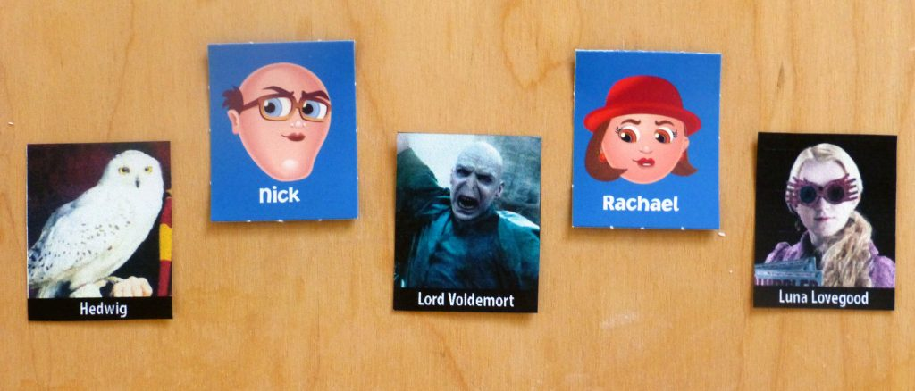 choosing characters for Harry Potter Guess Who