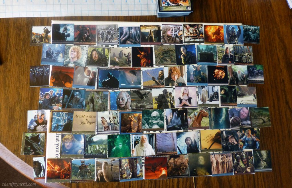 forming a trading card collage