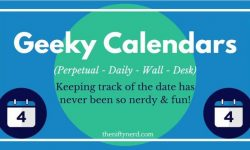 18 Geeky Calendars for 2020