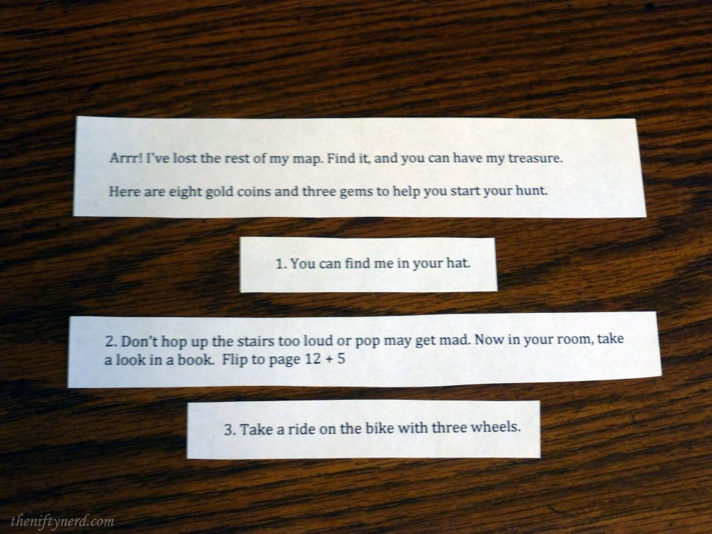 scavenger hunt clues for kids