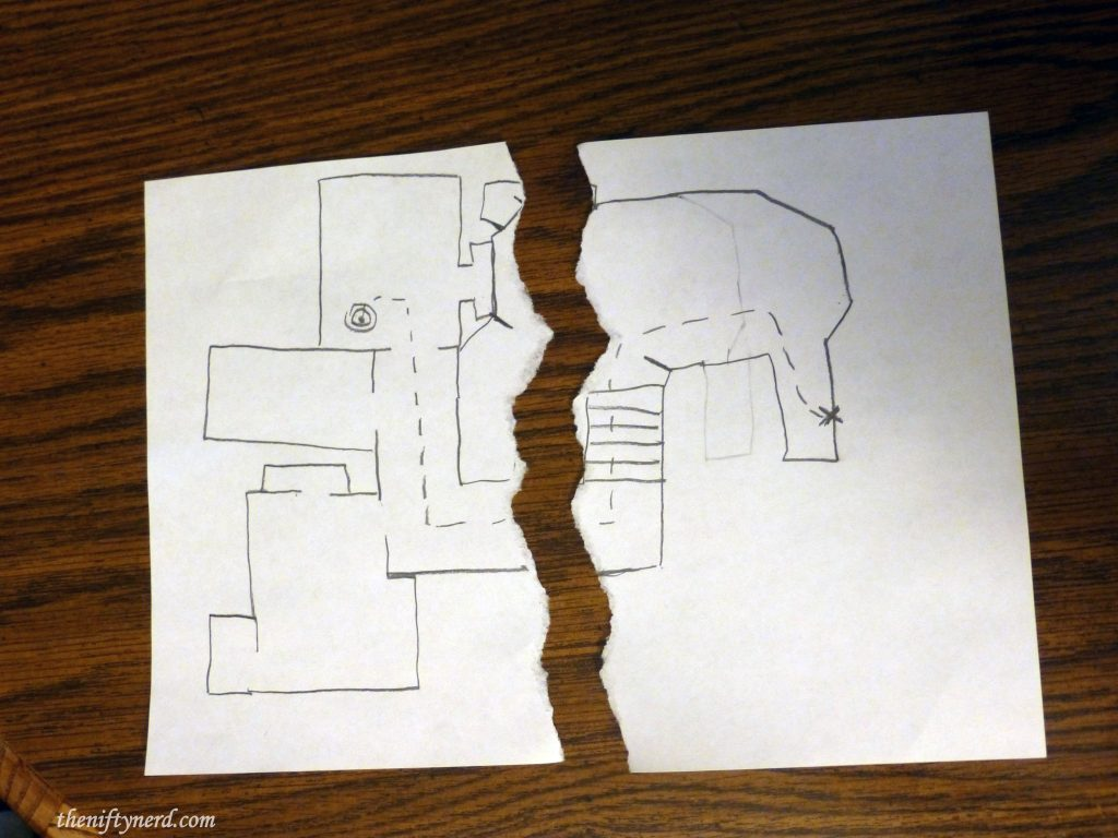scavenger hunt treasure map