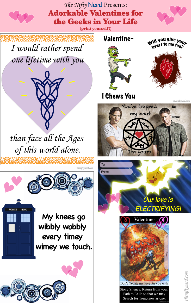 printable geeky valentine's day cards