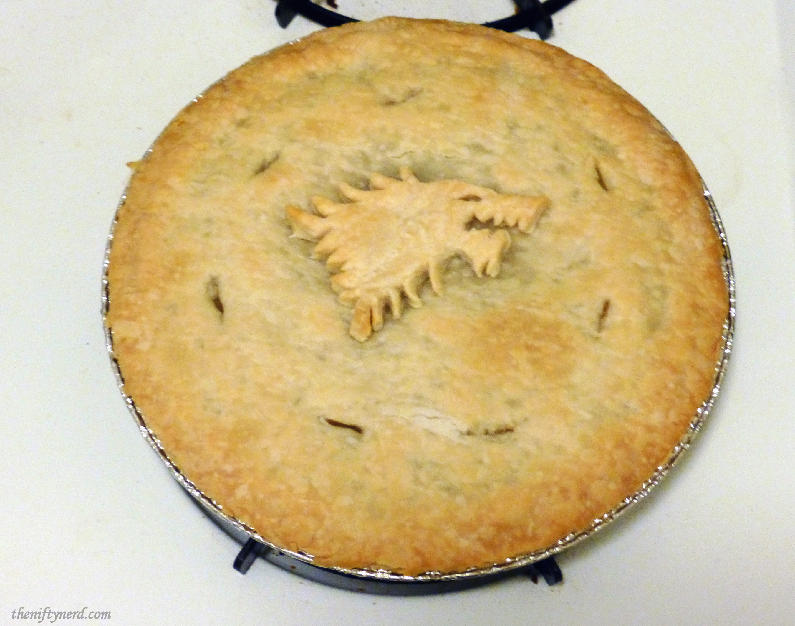 baked Direwolf chicken pot pie