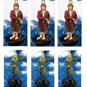 Lord of the Rings hobbits and elves ornaments