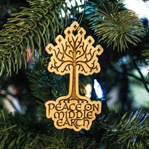 'Peace on Middle Earth' Gondor tree LoTR ornament