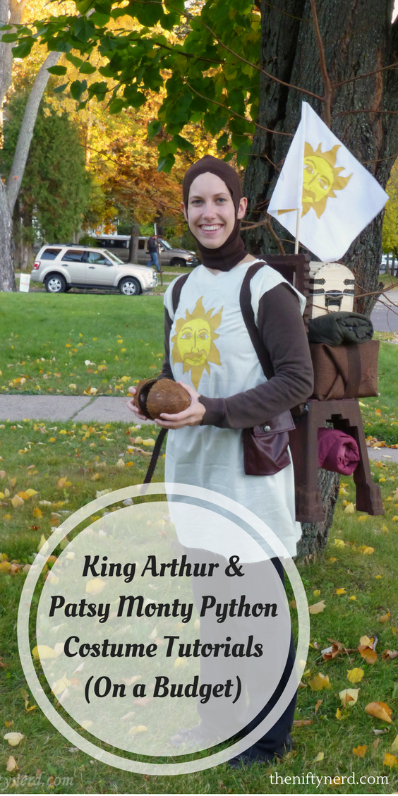 Monty Pythin Kind Arthur and Pasty costume tutorials