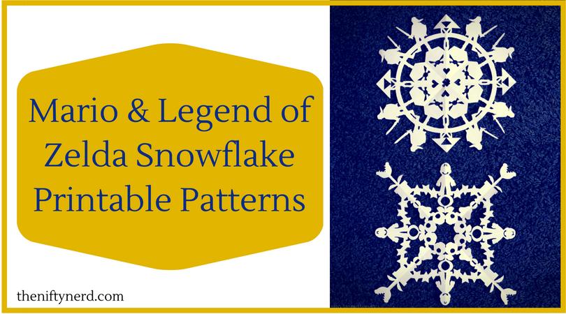 Mario & Legend of Zelda Snowflake Printable Patterns