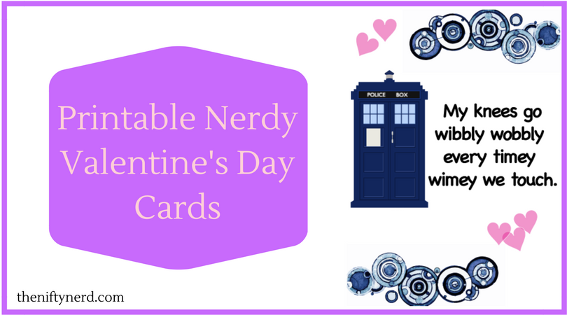 nerdy valentines day cards diy printables - Geeky Valentines Cards