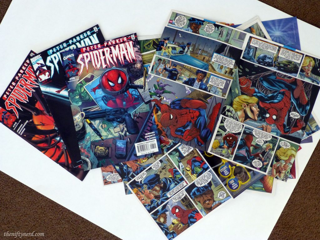 Spiderman comic book pages