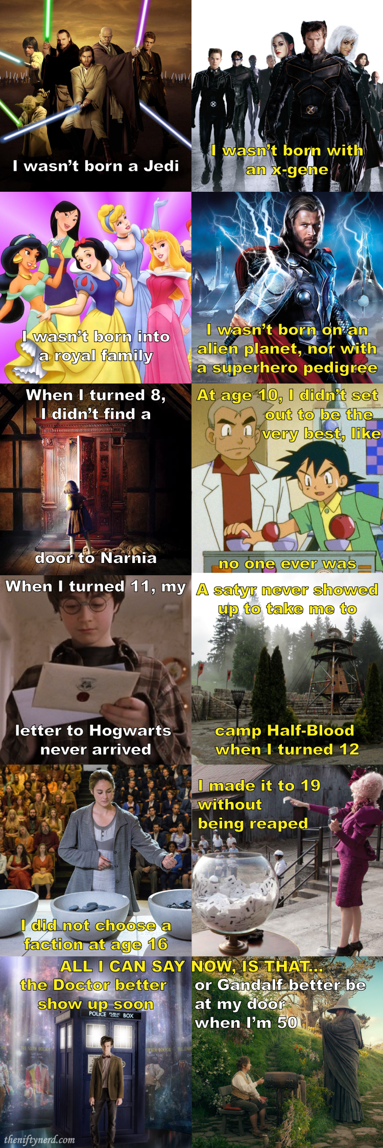 important fictional ages