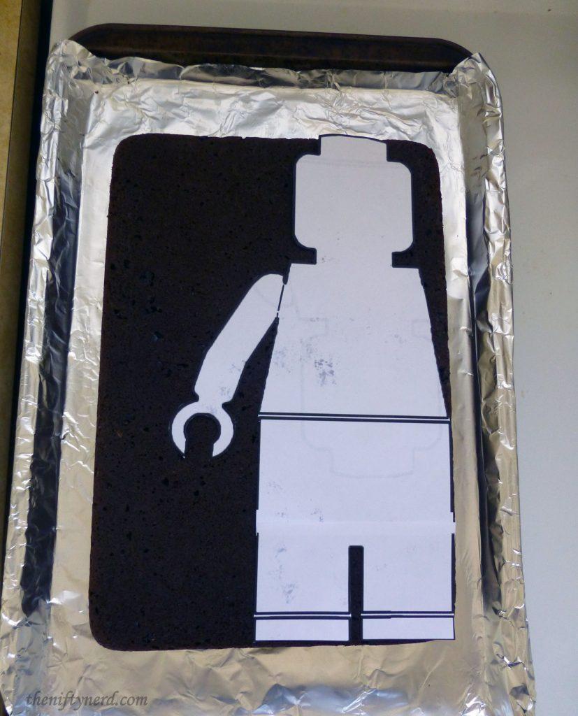 Lego figure paper cake template