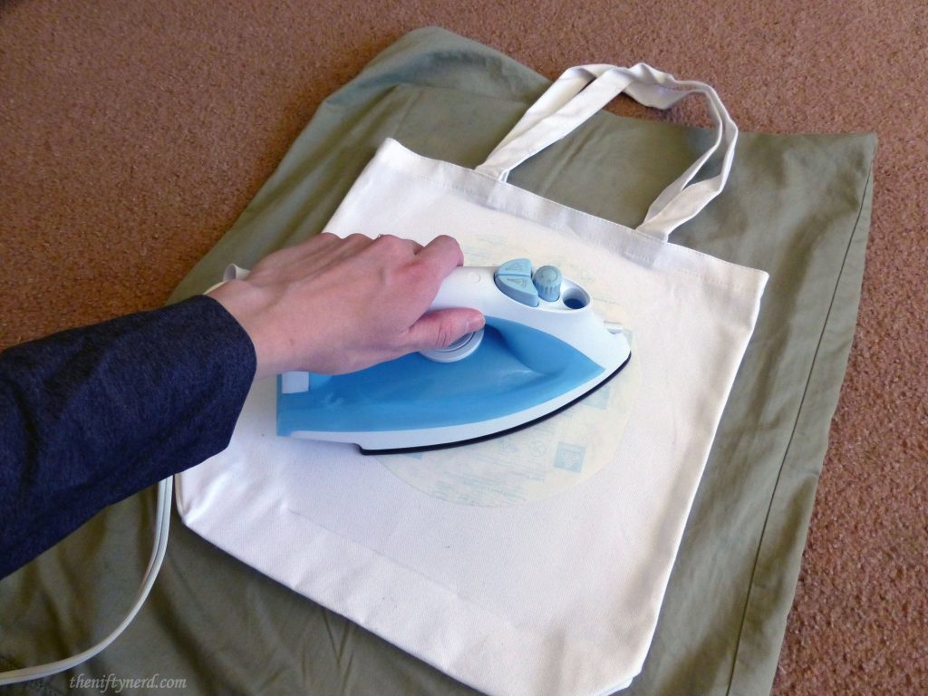 ironing on the trasfer image