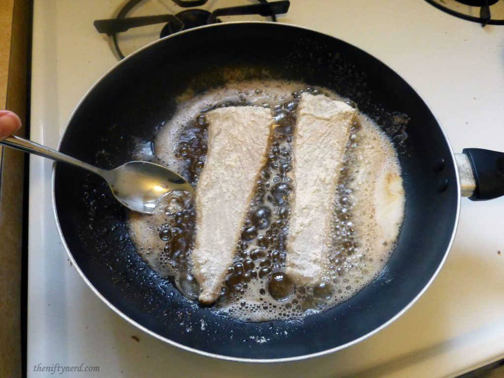 pan frying the fish