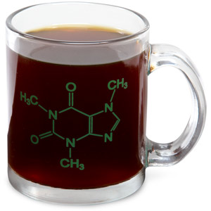 Molecule caffeine mug