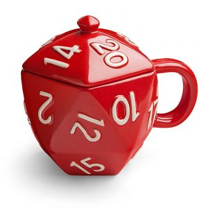 D20 ceramic coffee mug