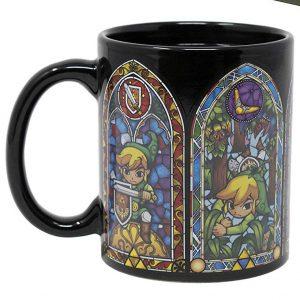 Legend of Zelda stained glass color changing mug