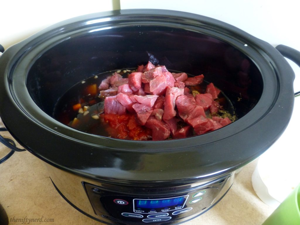 cooking horker stew in a crockpot