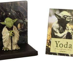 Yoda Figure and Quote Book of Wisdom