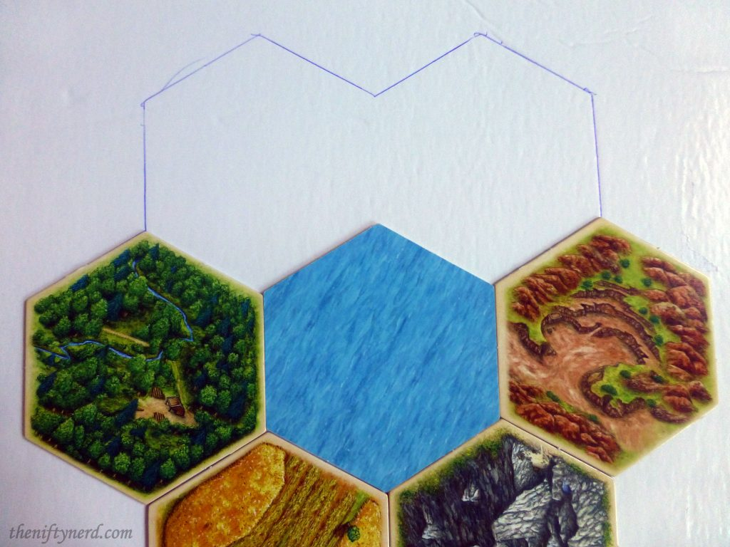 Settlers of catan board game hexes