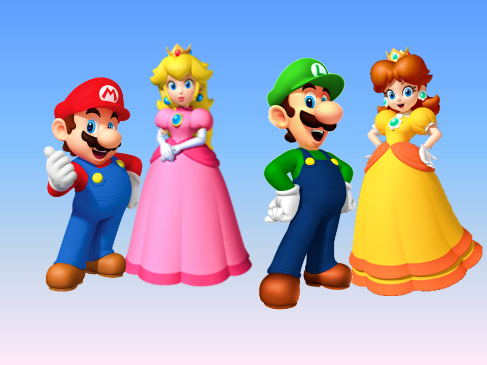 Mario, Peach, Luigi, Daisy