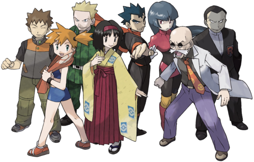 Pokemon gym leaders and trainers