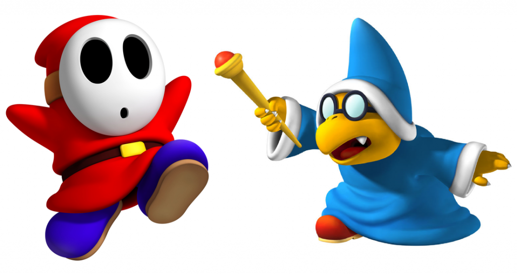 Shy Guy and Kamek