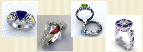 nerdy wedding rings