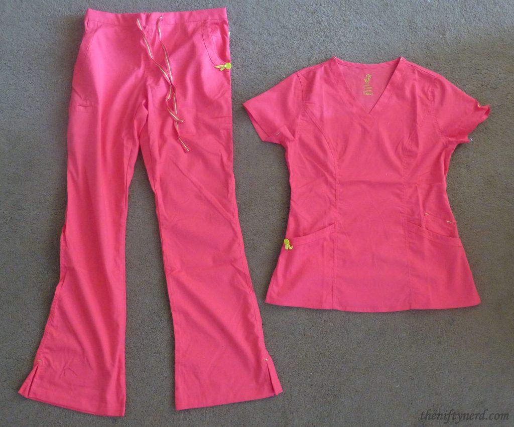 pink nursing scrubs