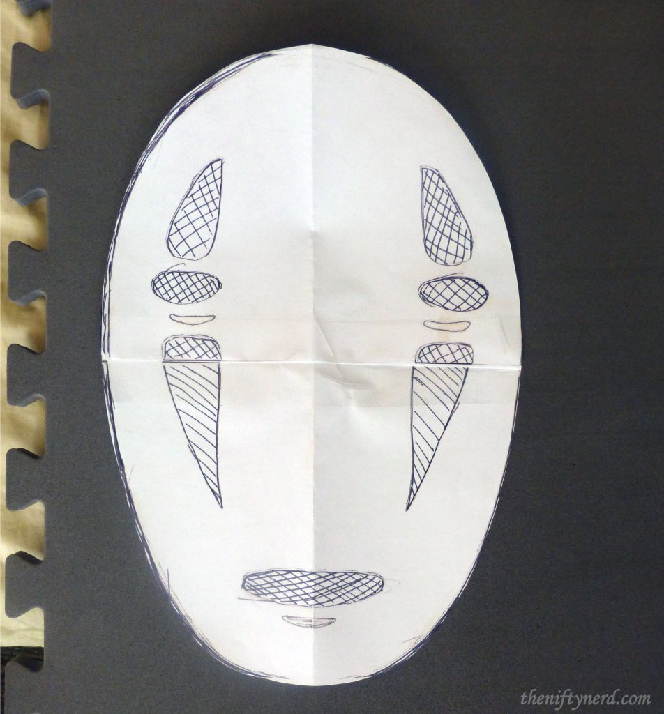 No Face mask paper pattern