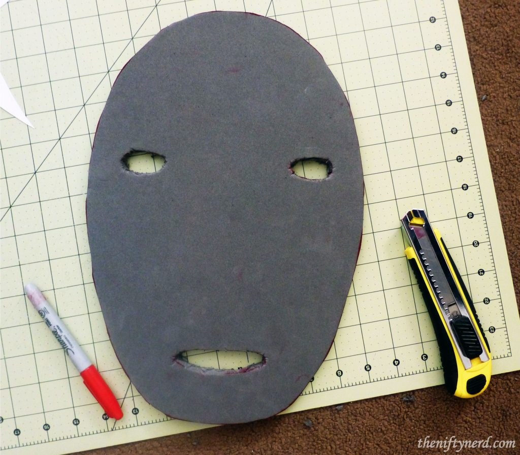 Making No Face's face out of foam