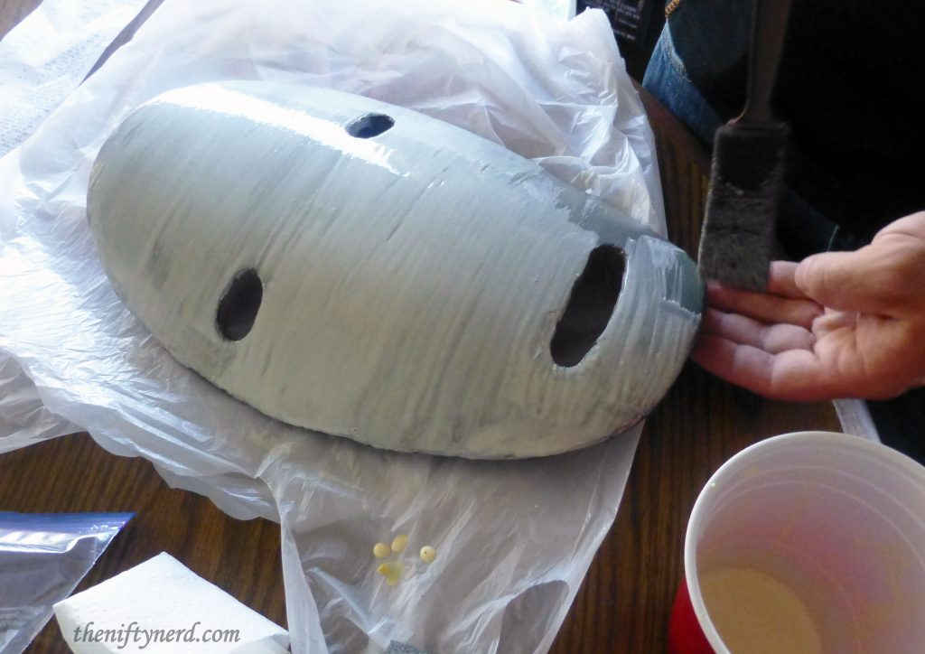 Sealing the foam mask
