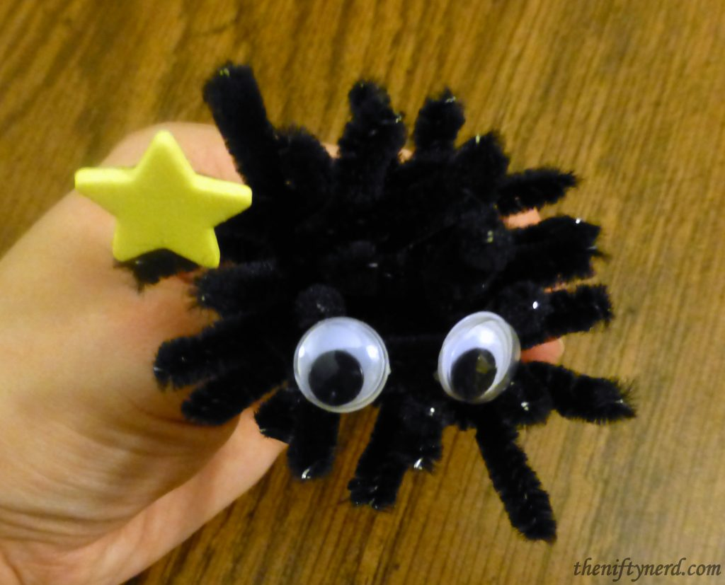Soot sprite made from pipecleaners