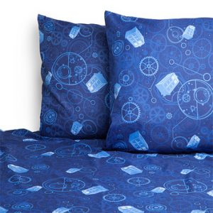 Doctor Who Wibbly Wobbly Bed Sheets