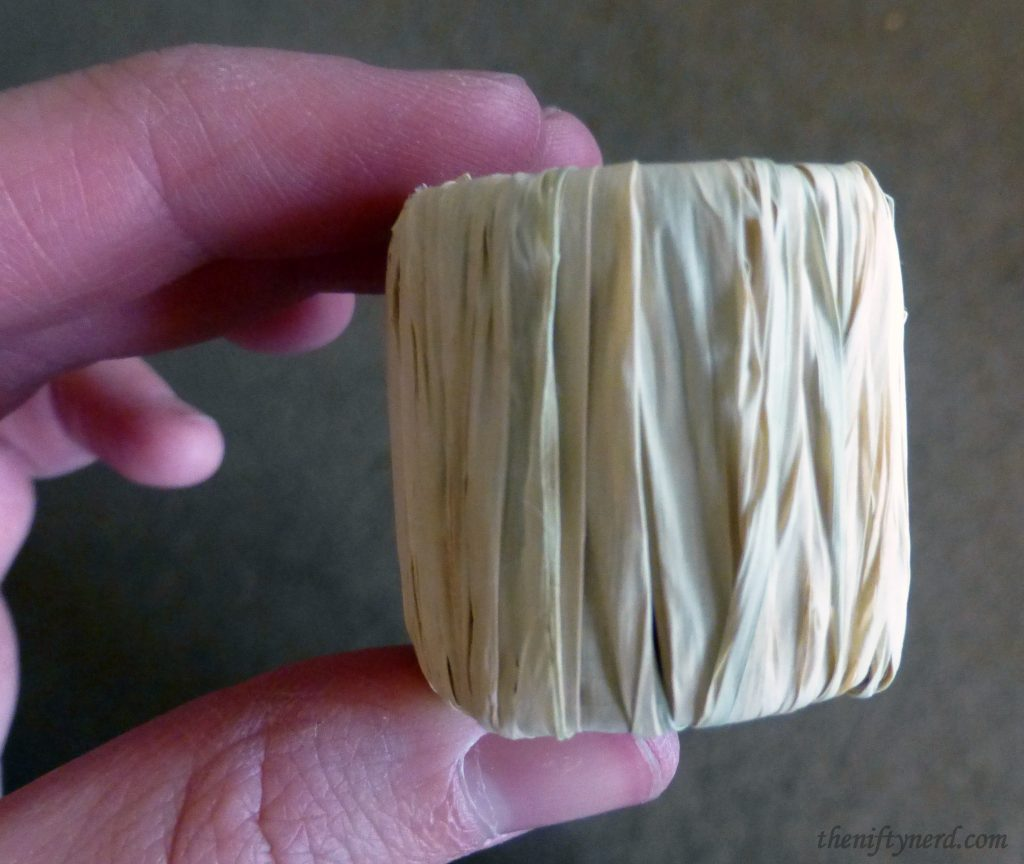 straw-wrapped cardboard tube