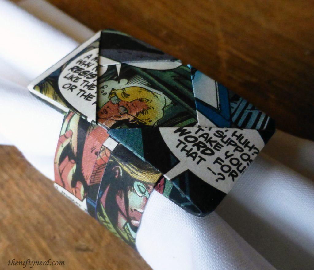 comic book napkin ring