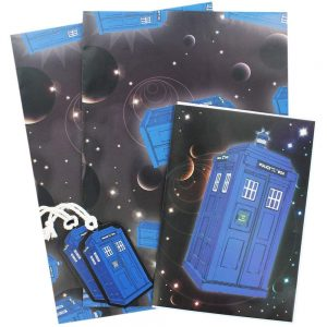 Dr. Who gift wrap set