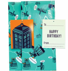 Doctor Who Gift Wrap Set