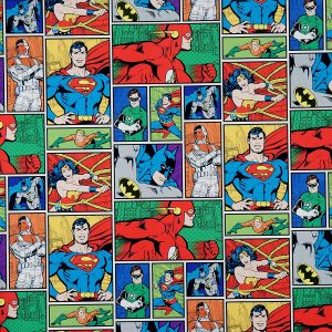 DC Justice League wrapping paper 3 roll set