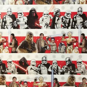 The Last Jedi Star Wars wrapping paper