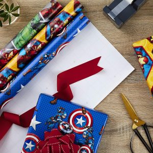 Marvel Avengers wrapping paper rolls