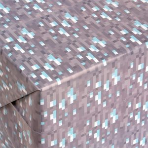 Minecraft diamond block wrapping paper