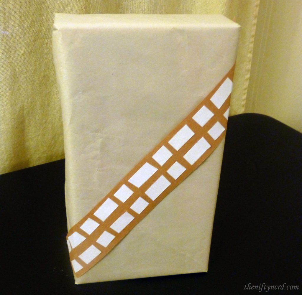 Make at home Chewbacca wrapping paper