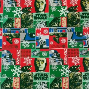 Star Wars R2D2 & CP3O Holiday Wrapping Paper Gift Wrap