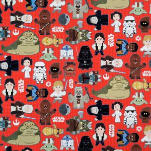 Star Wars character wrapping paper