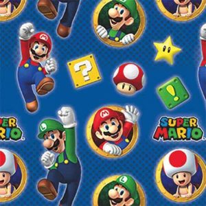 Super Mario wrapping paper