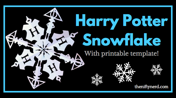 Make Your Own Harry Potter Snowflake DIY Print Cut Template Stunning Snowflake Cutting Patterns