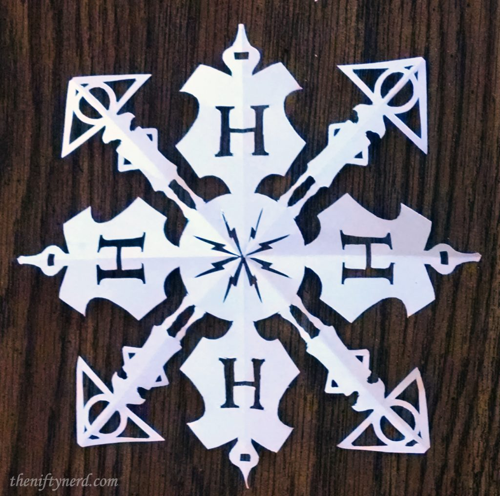 Make Your Own Harry Potter Snowflake Diy Print Cut Template