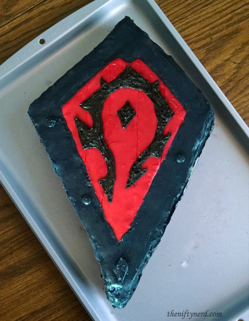 WoW Horde shield cake