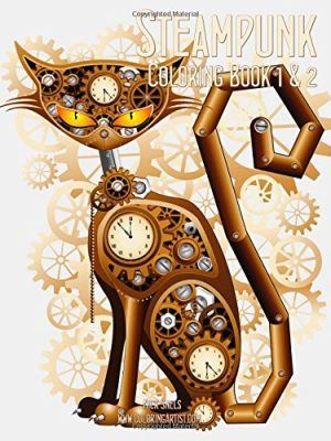 Steampunk Adult Coloring Books (Vol. 1 & 2)